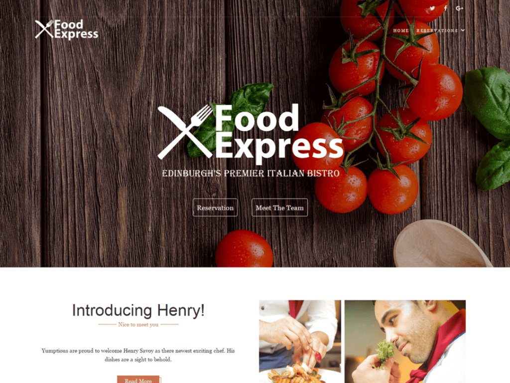 Food Express best free responsive WordPress themes