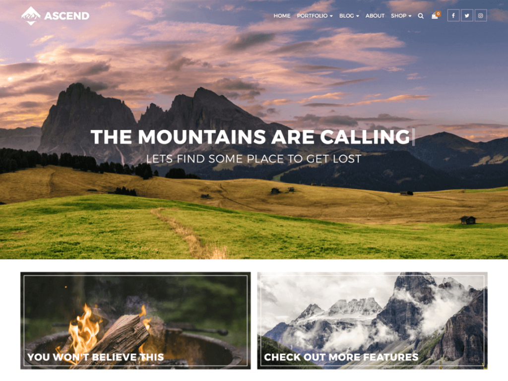 Ascend WordPress theme