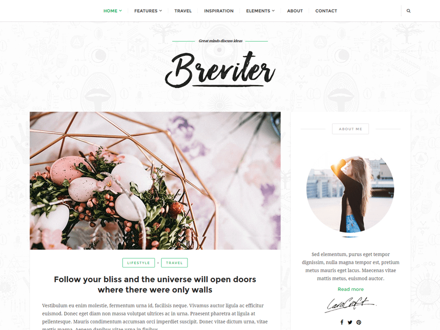 Breviter Best Free WordPress Themes