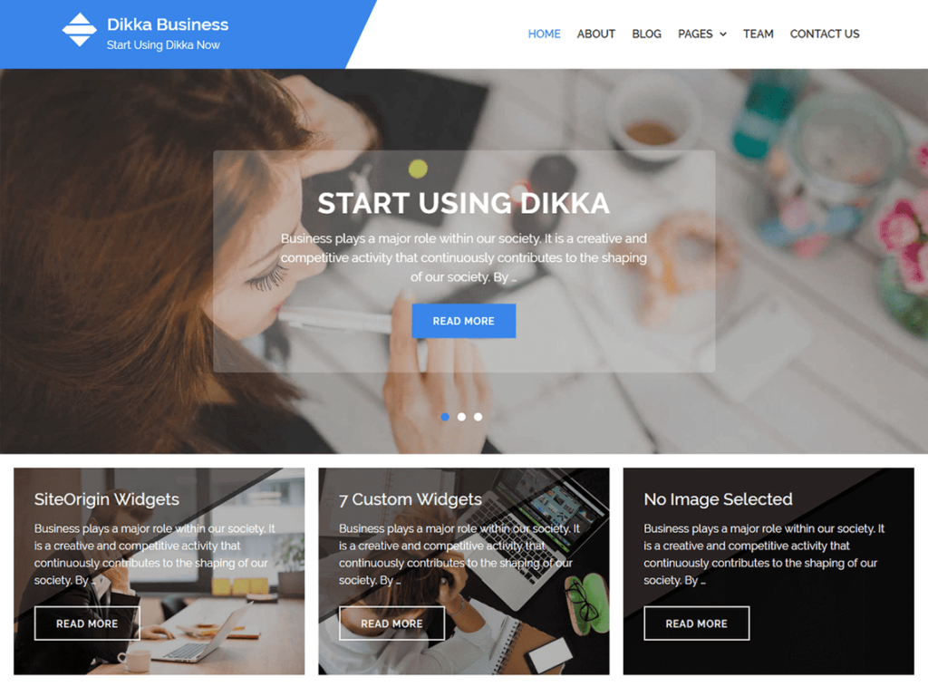 Dikka Business WordPress theme