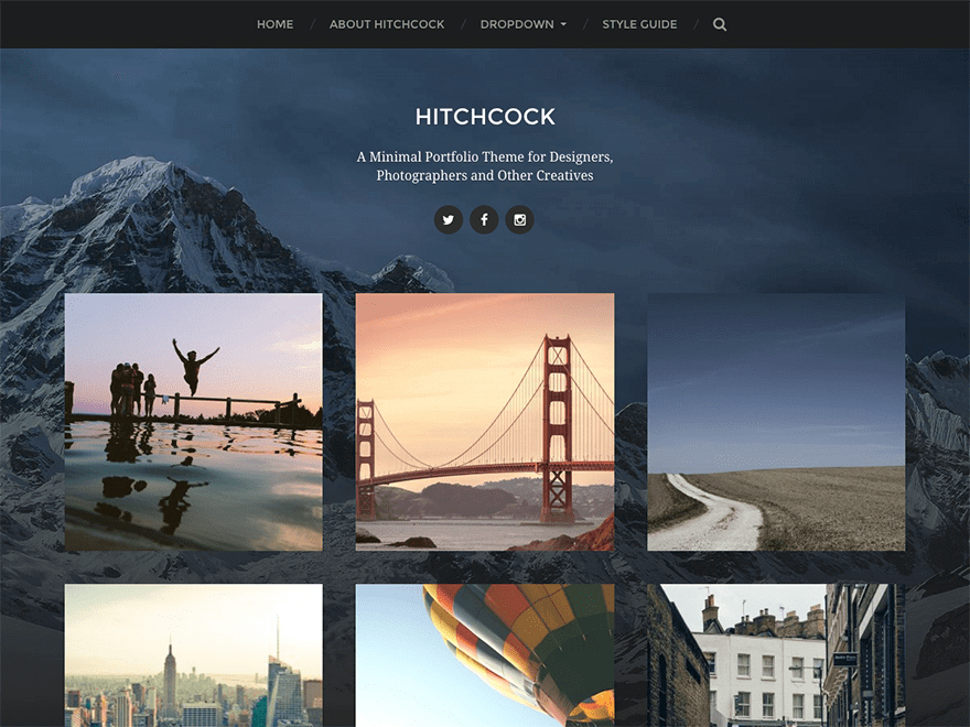 Hitchcock WordPress theme
