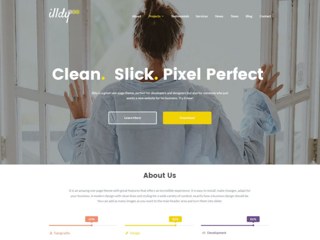 Illdy Best Free WordPress Themes for photographers