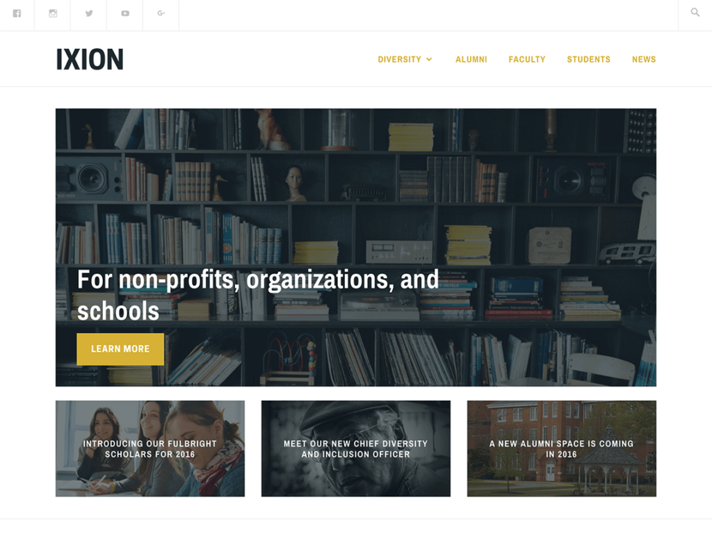Ixion Best Free WordPress Themes