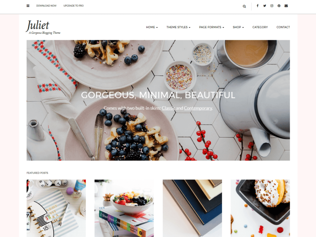 Juliet WordPress theme