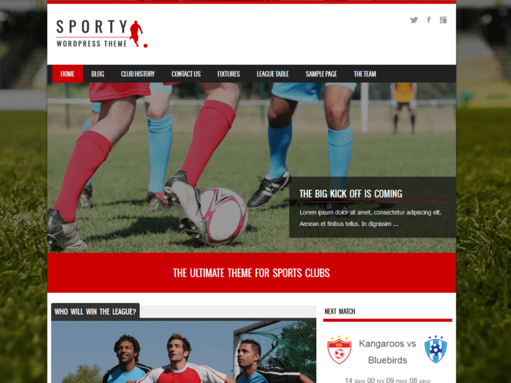 Best Free WordPress Themes for Sports