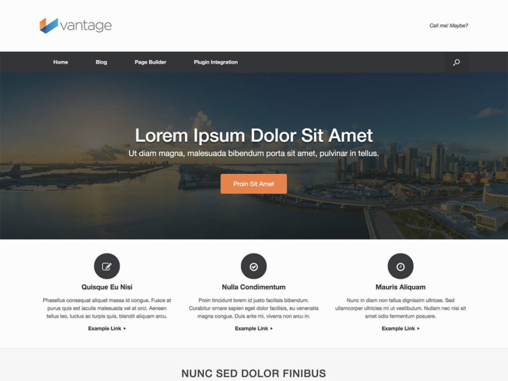Vantage Best Free WordPress Themes for business
