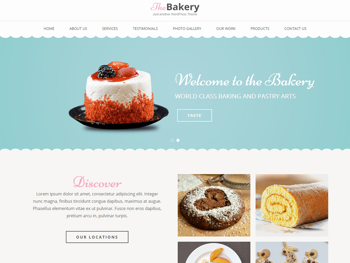 bakes and cakes wordpress