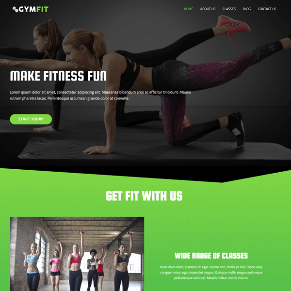 Gym WordPress Theme