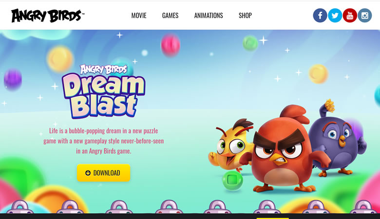 Angry Birds website