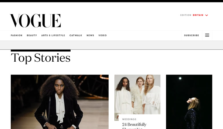 Vogue website what is WordPress